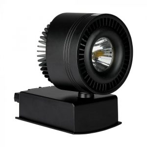 33W LED COB CRI>95 Track Light Black Body 5000K