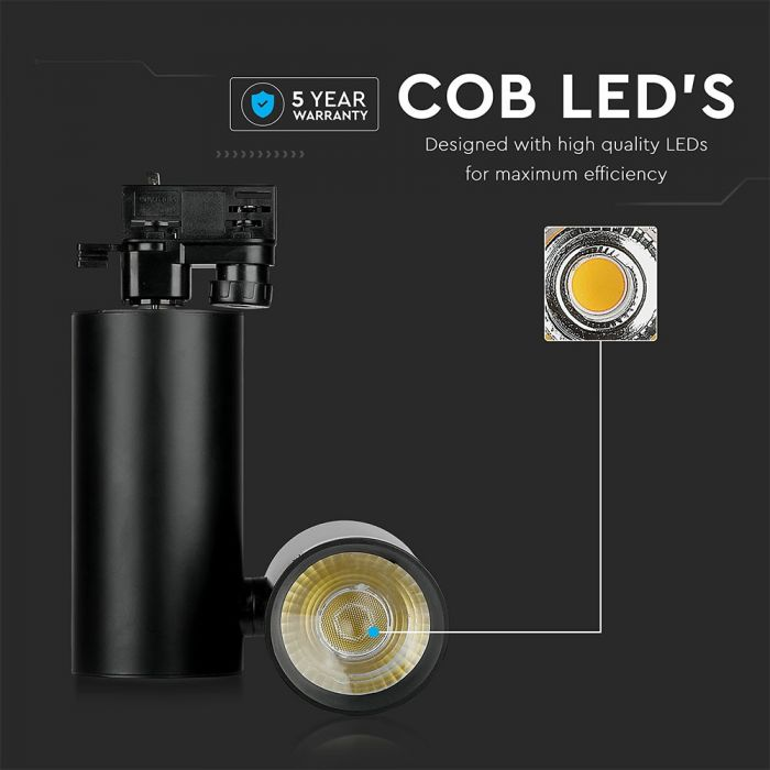 30W LED Track Light 5 Years Warranty
