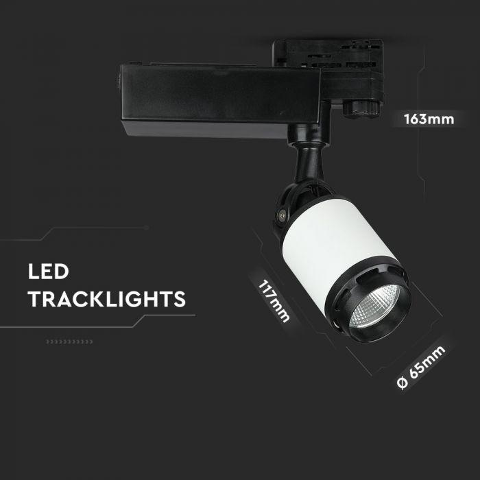 10W LED Track Light Black&White Body