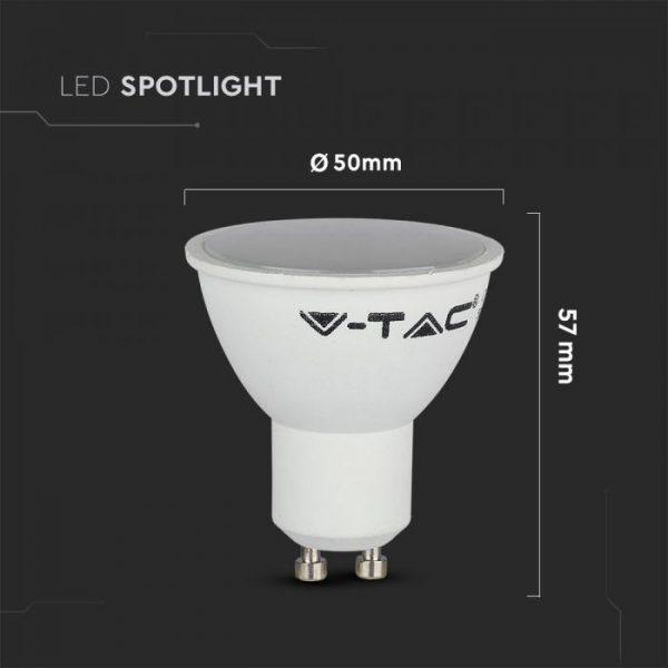 5W GU10 LED Spotlight SMD 110° Milky Cover