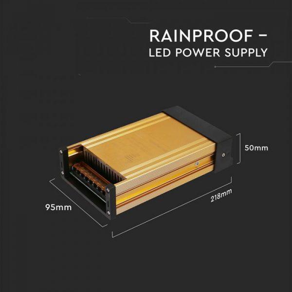 250W LED Rainproof Power Supply - 12V - 20A - IP45 Metal