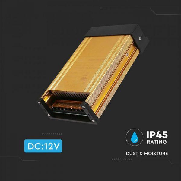 400W LED Rainproof Power Supply - 12V - 33A - IP45 Metal