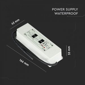 60W LED Waterproof Power Supply 12V 5A IP67 Plastic 2 Years Warranty