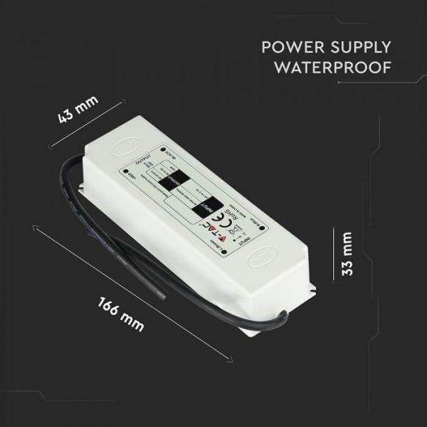 75W LED Waterproof Power Supply - 12V - 6A - IP67 Plastic