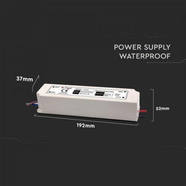 100W LED Waterproof Power Supply - 12V - 8A - IP65 Plastic