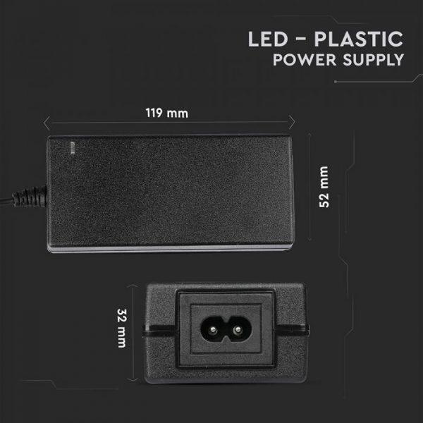 LED Power Supply – 78W 12V 6.5A Plastic