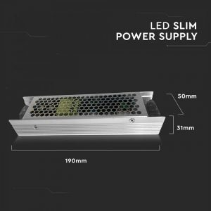 120W LED Slim Power Supply -12V - 10A Metal
