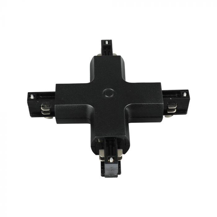 4X Track Connector - Black/ White