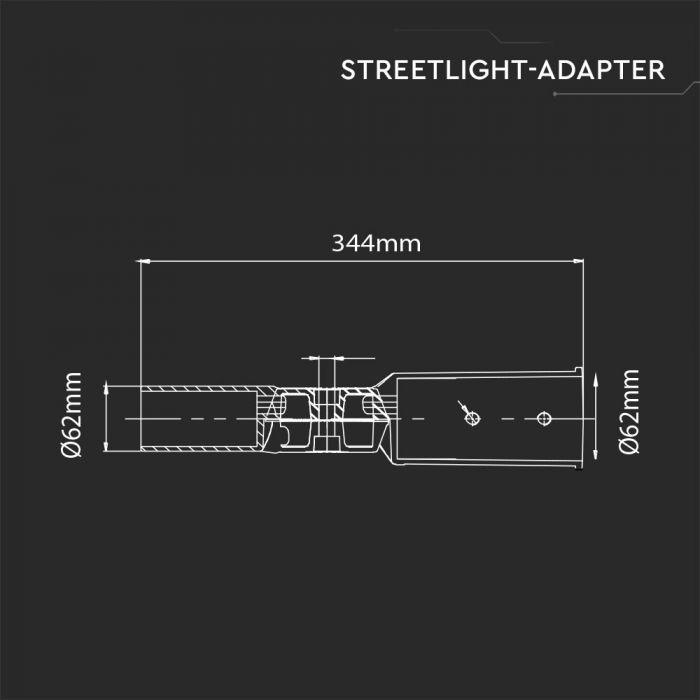 62mm Streetlight Adaptor Holder