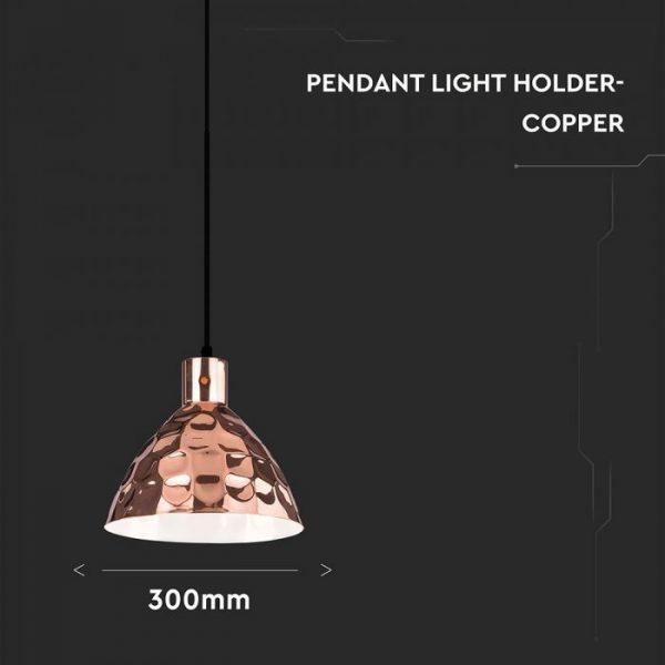 Rose Gold Pendant Light Holder D=300