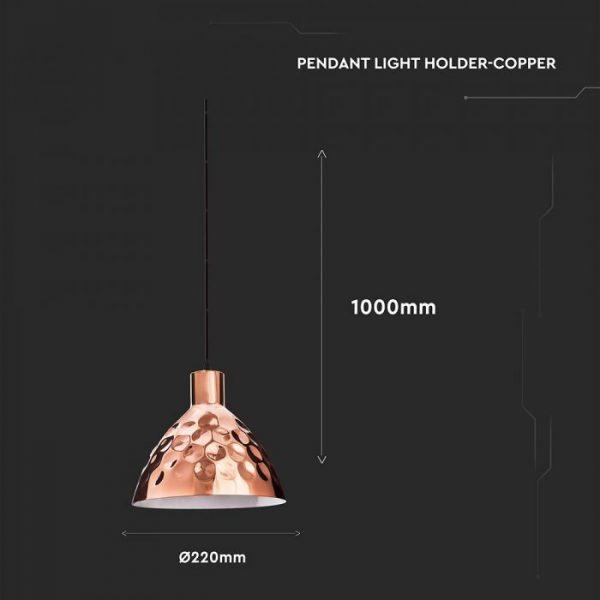 Rose Gold Pendant Light Holder D220