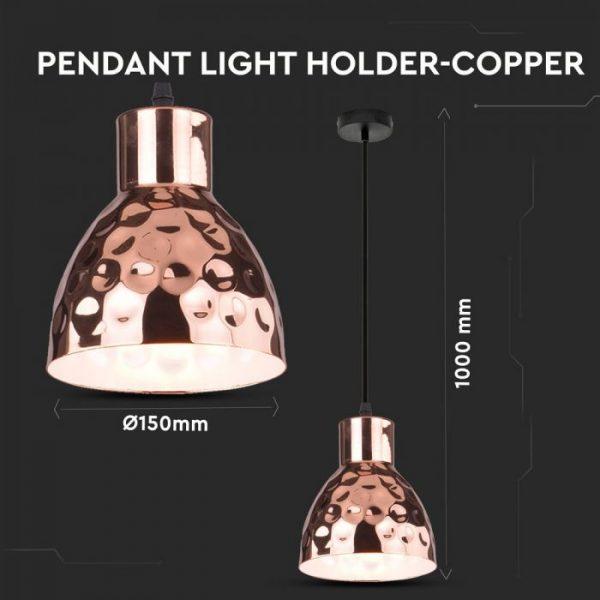 Rose Gold Pendant Light Holder D=150