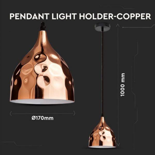 Rose Gold Pendant Light Holder D=170