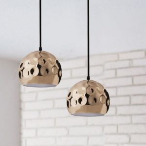 Rose Gold Pendant Light Holder D=200