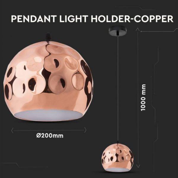 Rose Gold Pendant Light Holder D=200