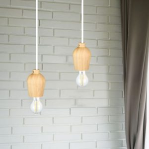 Wooden Pendant Light E27 Holder