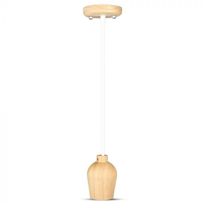 Wooden Pendant Light E27 Holder