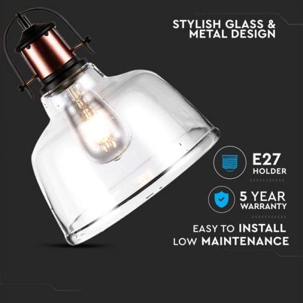 Glass Pendant Light Transparent