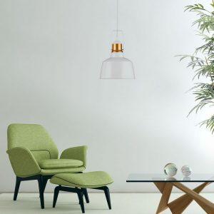 Vintage Pendant White