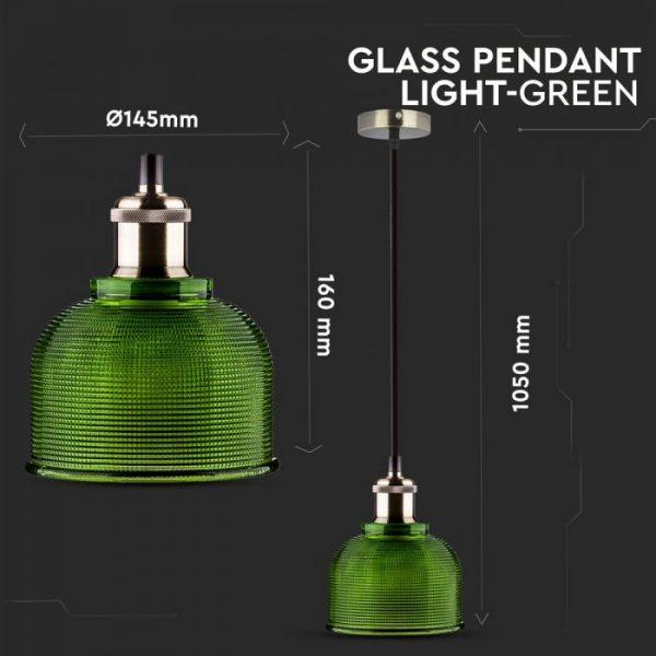 Glass Pendant Light Green D=145