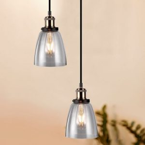 Vintage Glass Pendant Light Transparent D=140