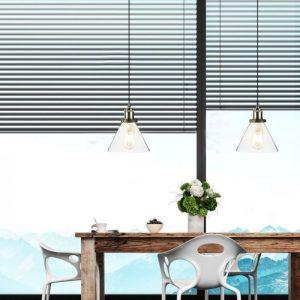 Vintage Glass Pendant Light Transparent D=180