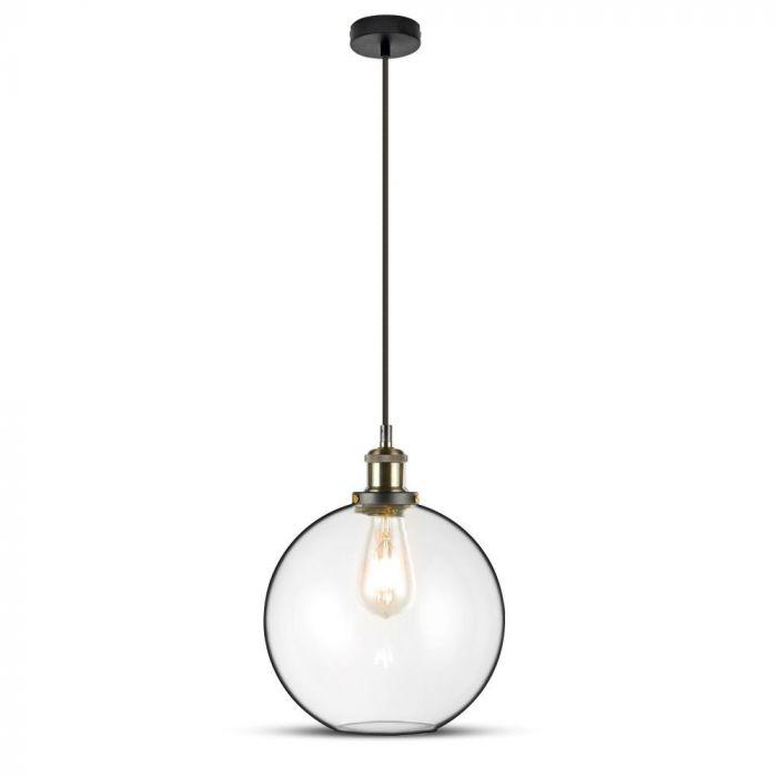 Vintage Glass Pendant Light Transparent D=250