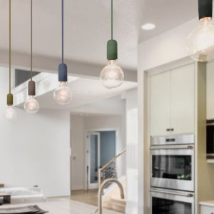 Concrete Pendant Light E27 Multiple Colours