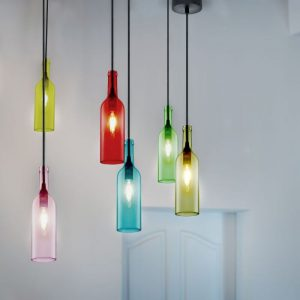 Bottle Pendant Light E14 Holder