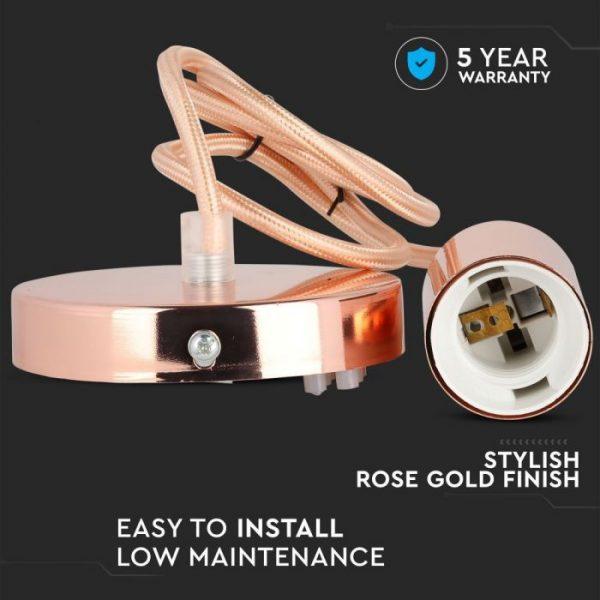 Pendant Gold Rose Whole Set