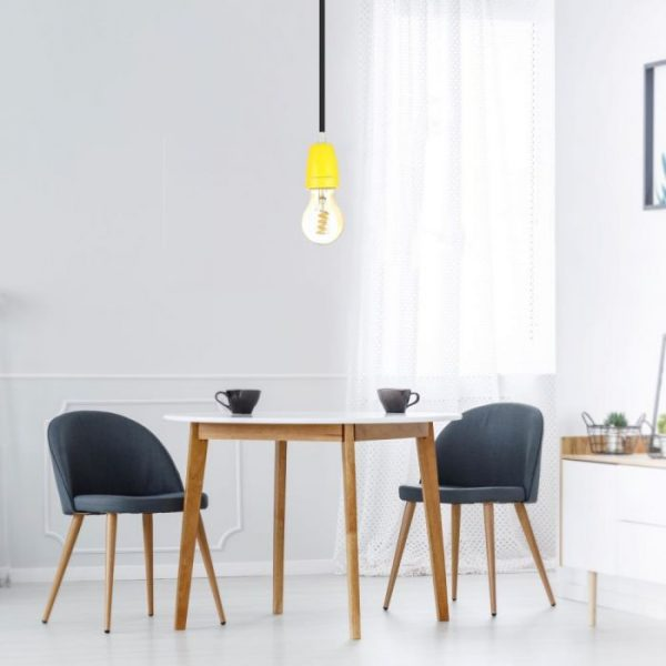 Porcelain Lamp Holder Fitting Yellow