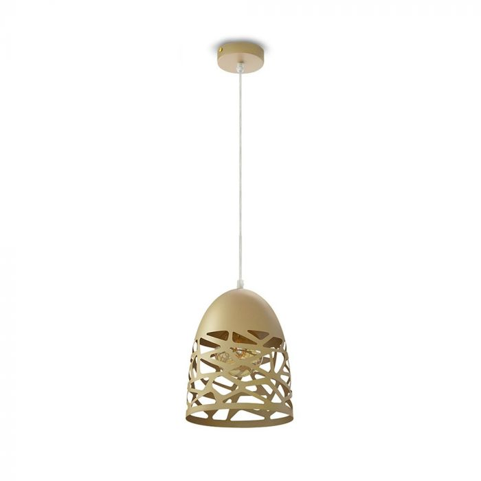 Gold Pendant Light With Gold Canopy