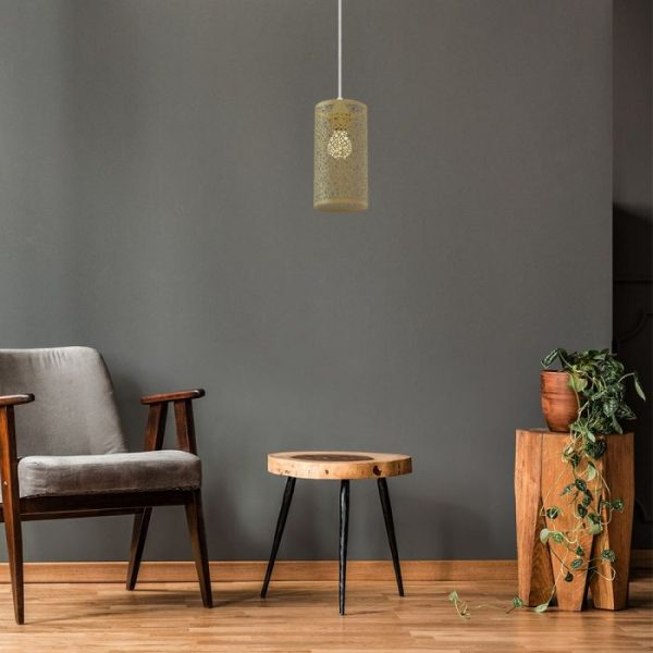 Pendant Light Can Shape - Champagne Gold