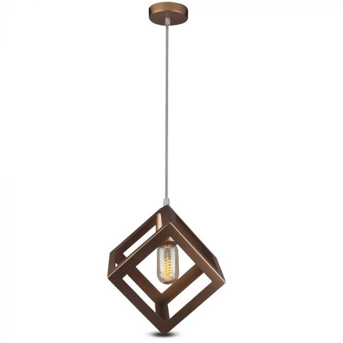 Pendant Prismatic Light Geometric Series With Gold Canopy