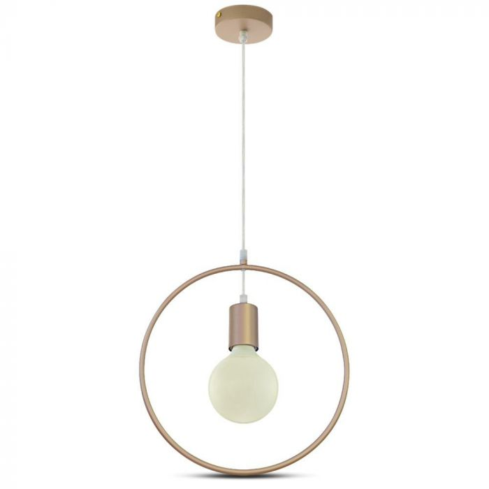 Pendant Circle Light Geometric Series With Gold Canopy