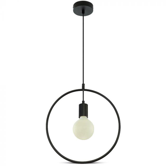Pendant Light Matt Black With Black Circle Canopy