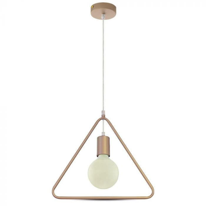 Pendant Light Triangle Geometric Series With Gold Canopy