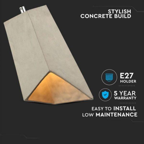 Pendant Light Concrete Lampshade 155/155mm