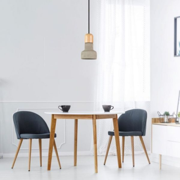 Pendant Light Concrete Wood  D=125mm
