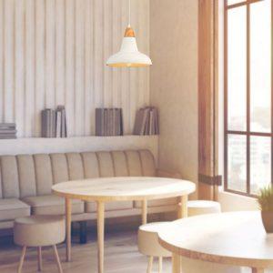 Pendant Light Concrete Wood  Red D=300mm