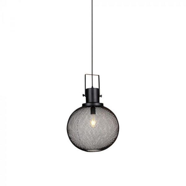 BLACK METAL GLOBE MESH PENDANT LAMP