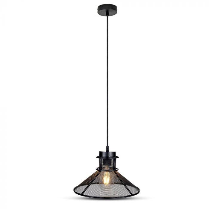 BLACK METAL V SHAPE MESH PENDANT LAMP