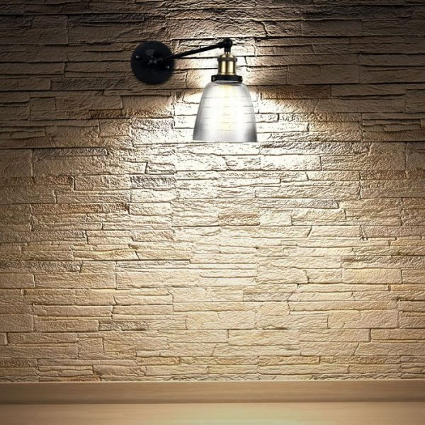 Wall Lamp Cone Shape Glass  D=140mm