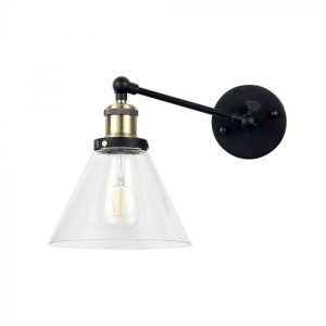 W/V SHAPE GLASS WALL LAMP
