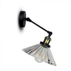 W/V SHAPE GLASS WALL LAMP