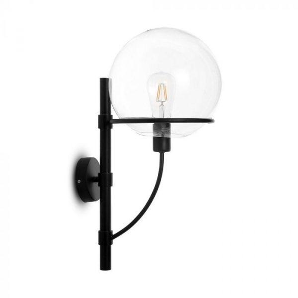 W/GLOBE SHAPE GLASS WALL LAMP