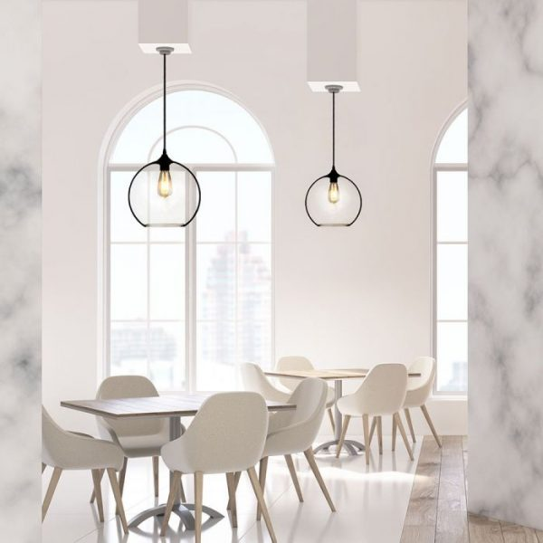 Pendant Light Globe Glass Transparent  D=300mm