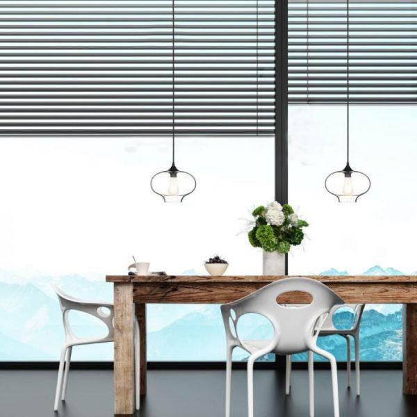 Pendant Light Globe Artistic Glass Transparent  D=280mm