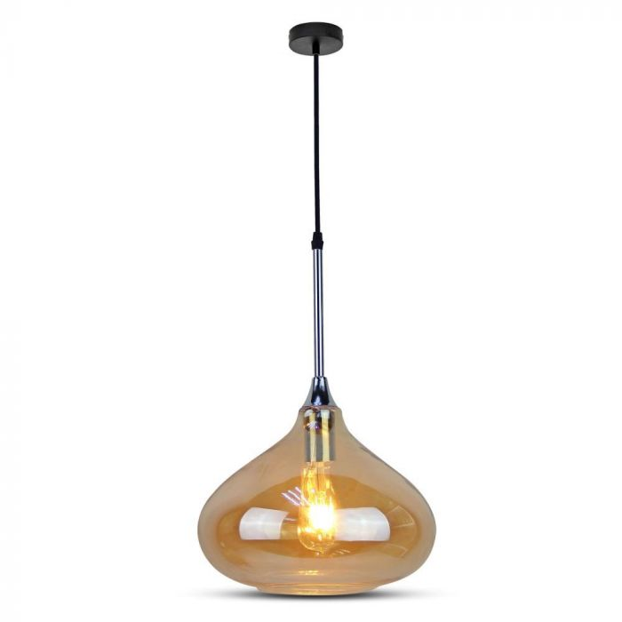 Pendant Light Modern Amber Glass Sleek Transparent  D=280mm