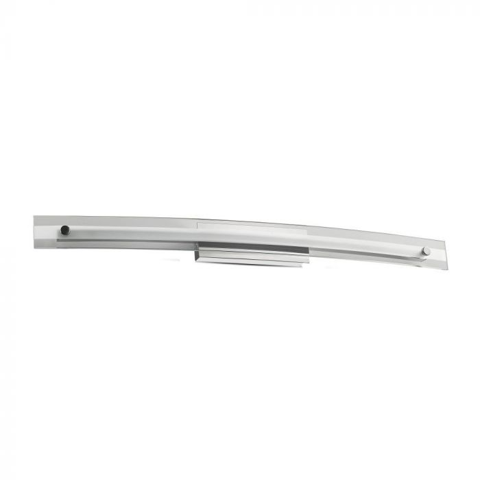 12W LED Designer Bend Glass Wall Fixture Chrome 4000K